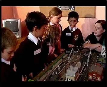 Children talking about the danger of playing on the railway