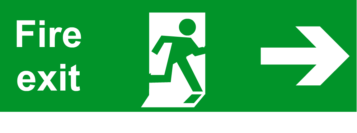 Fire Exit Sign : Safety scene key stage town signs