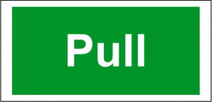 Pull Safety Sign