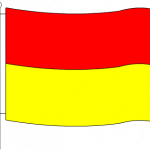 Red & Yellow Safety Flag
