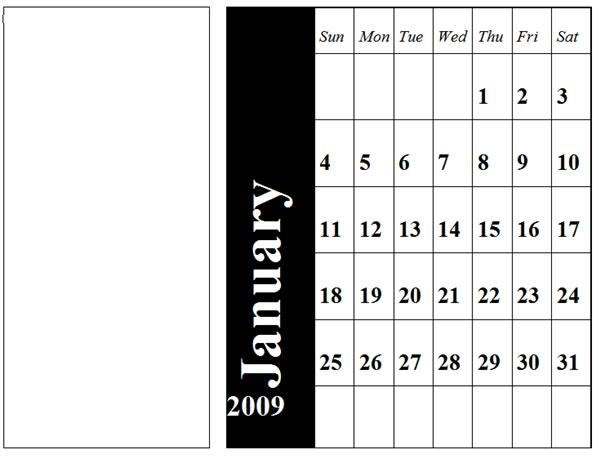 Create your own 2009-2010 calendar