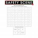 Stranger Danger safety word search 1